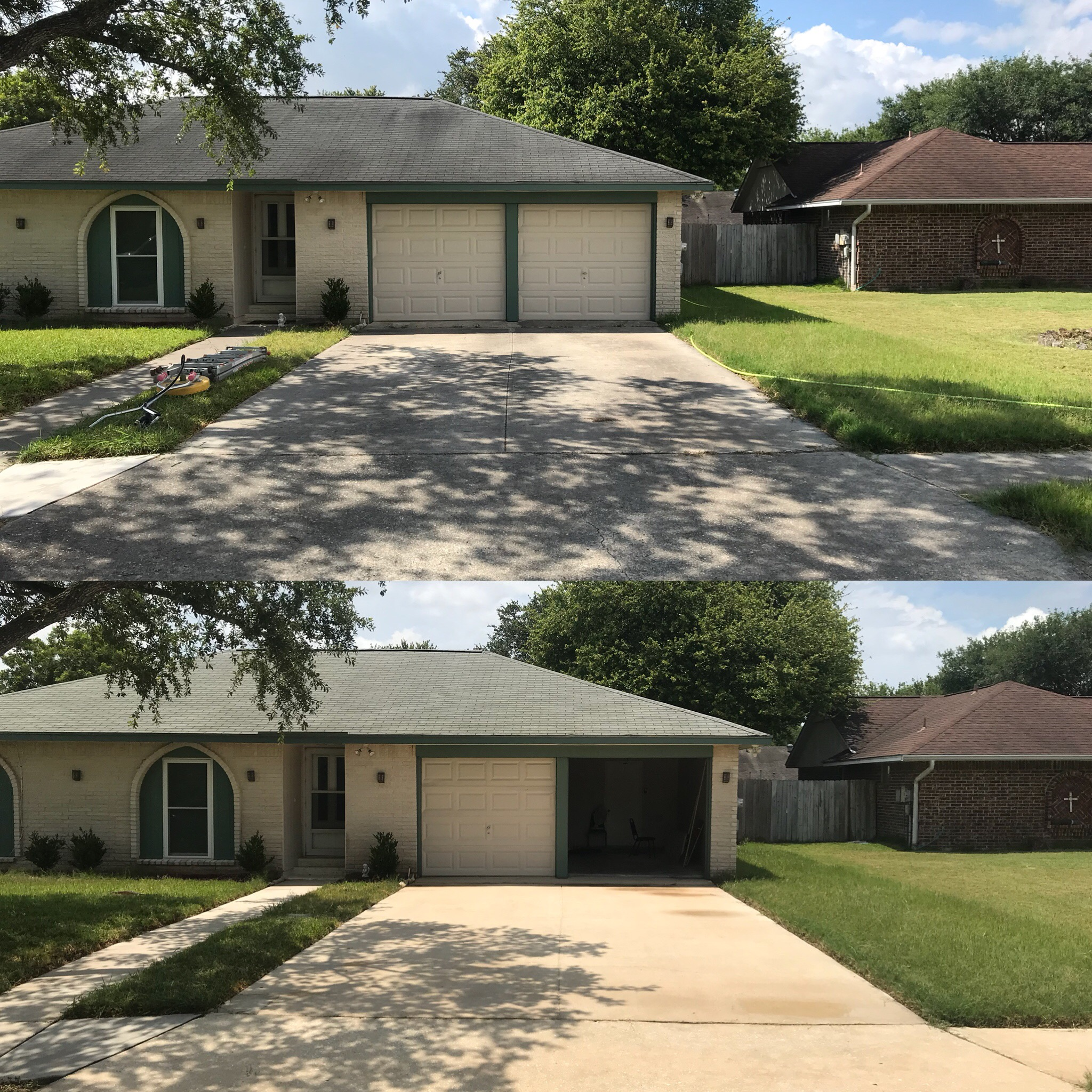 brick house washing before and after
